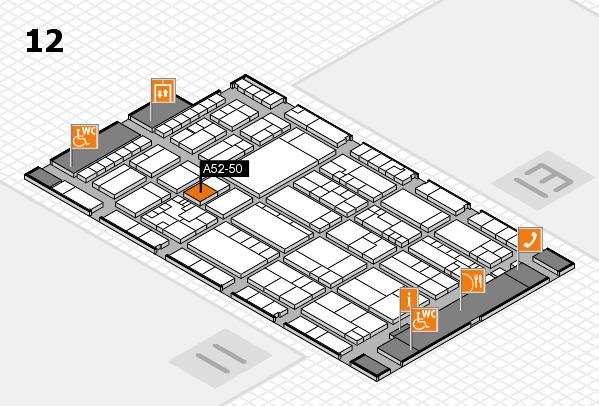 K 2016 hall map (Hall 12): stand A52-50