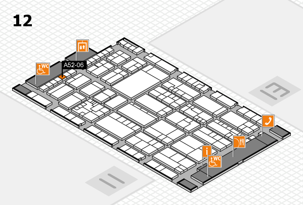 K 2016 hall map (Hall 12): stand A52-06