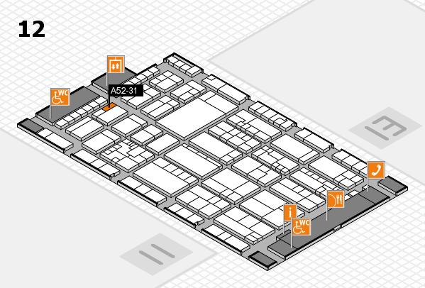 K 2016 hall map (Hall 12): stand A52-31