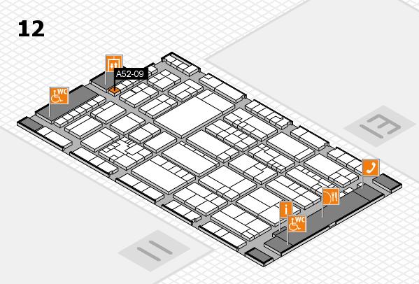 K 2016 hall map (Hall 12): stand A52-09