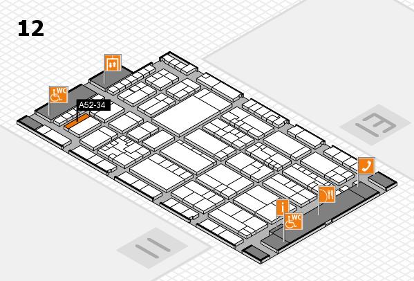 K 2016 hall map (Hall 12): stand A52-34