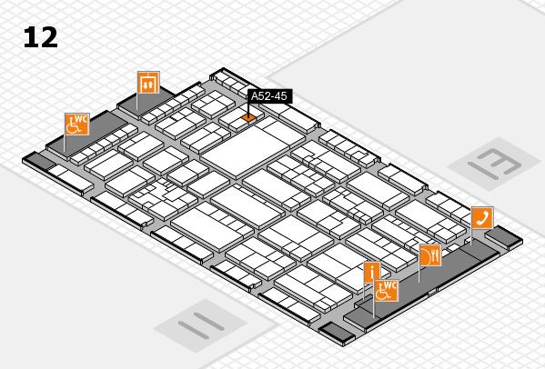 K 2016 hall map (Hall 12): stand A52-45