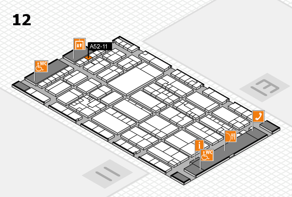 K 2016 hall map (Hall 12): stand A52-11