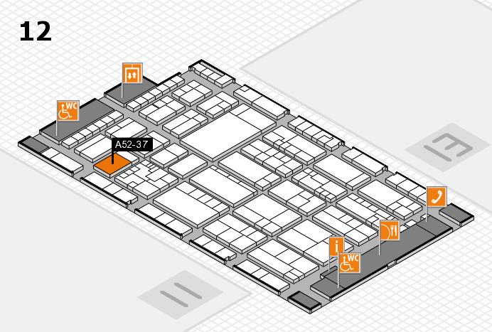 K 2016 hall map (Hall 12): stand A52-37