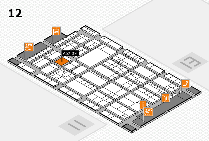 K 2016 hall map (Hall 12): stand A52-39
