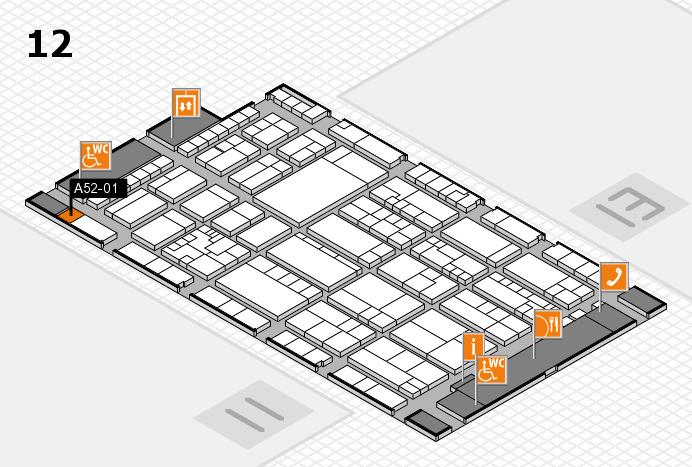 K 2016 hall map (Hall 12): stand A52-01