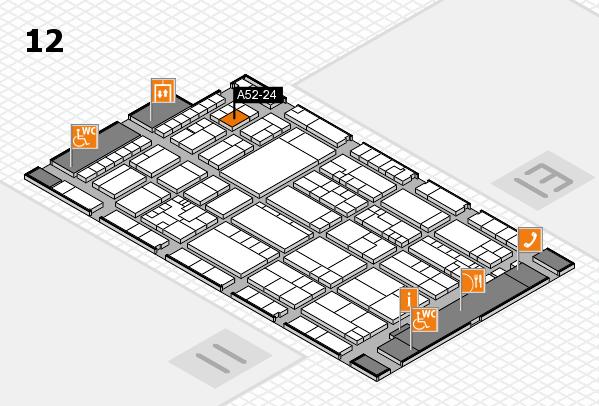 K 2016 hall map (Hall 12): stand A52-24