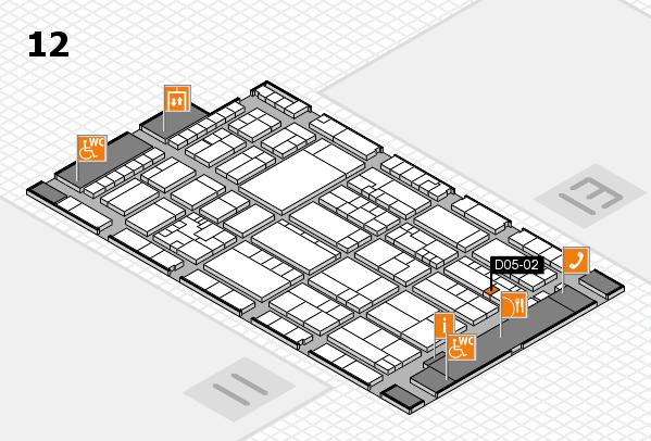 K 2016 hall map (Hall 12): stand D05-02