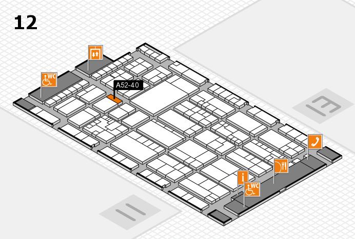 K 2016 hall map (Hall 12): stand A52-40