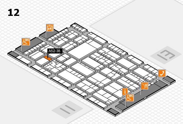 K 2016 hall map (Hall 12): stand A52-38