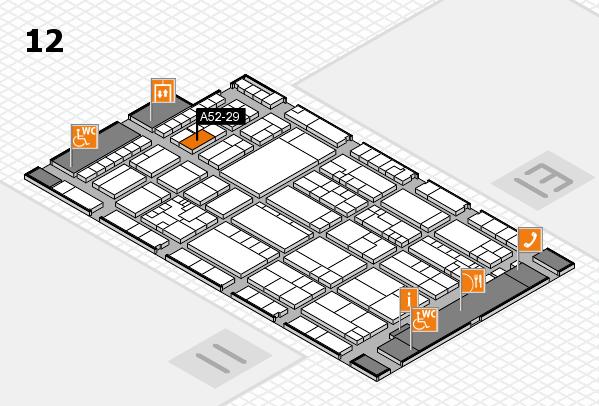 K 2016 hall map (Hall 12): stand A52-29