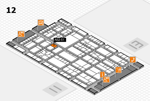 K 2016 hall map (Hall 12): stand A52-51