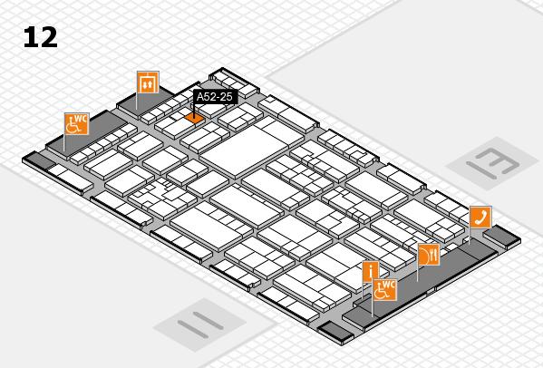 K 2016 hall map (Hall 12): stand A52-25
