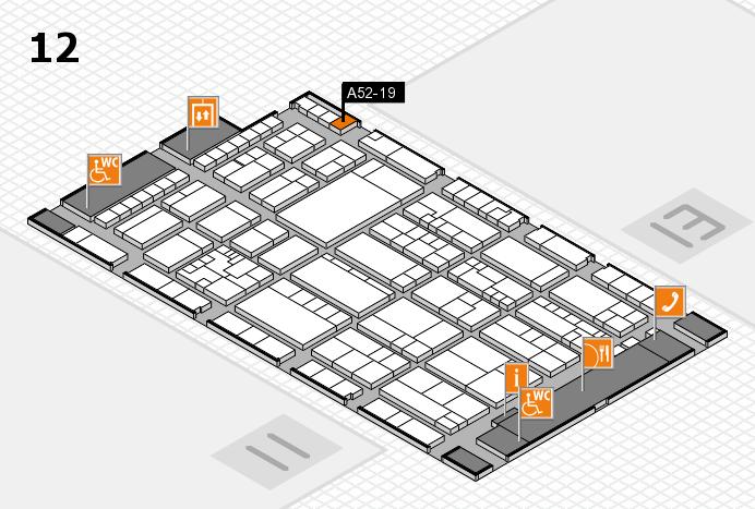 K 2016 hall map (Hall 12): stand A52-19