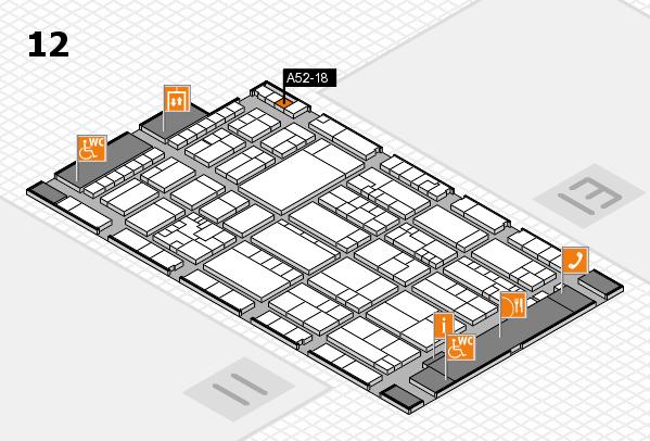 K 2016 hall map (Hall 12): stand A52-18