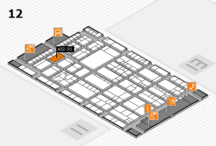 K 2016 hall map (Hall 12): stand A52-30