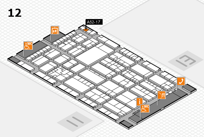K 2016 hall map (Hall 12): stand A52-17