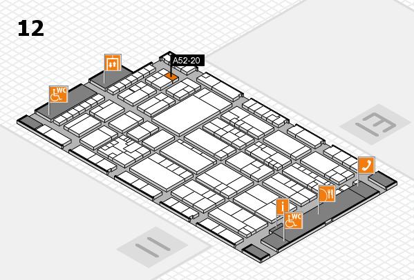 K 2016 hall map (Hall 12): stand A52-20