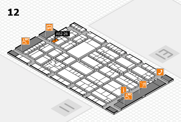 K 2016 hall map (Hall 12): stand A52-28