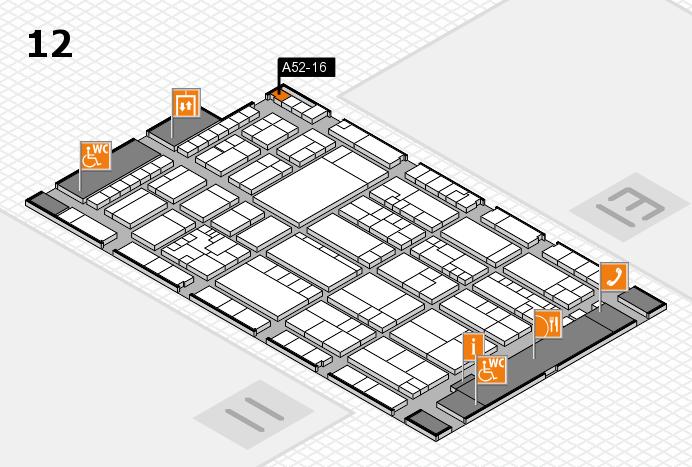 K 2016 hall map (Hall 12): stand A52-16