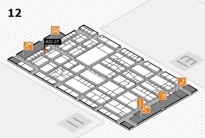 K 2016 hall map (Hall 12): stand A52-07