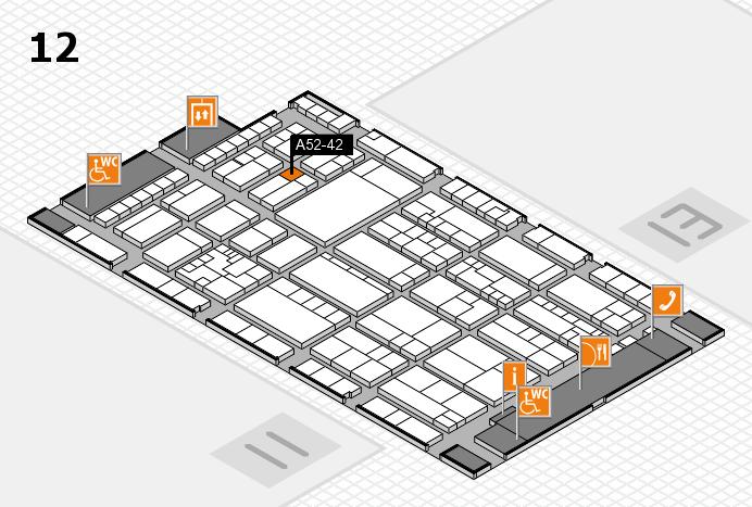 K 2016 hall map (Hall 12): stand A52-42