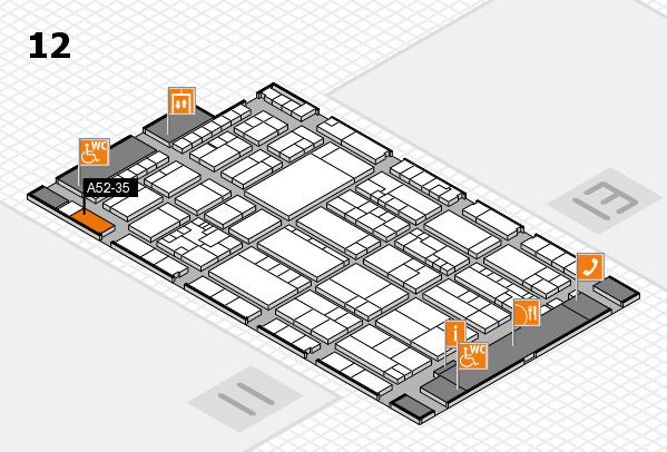 K 2016 hall map (Hall 12): stand A52-35