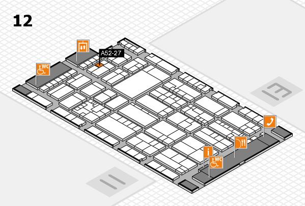 K 2016 hall map (Hall 12): stand A52-27