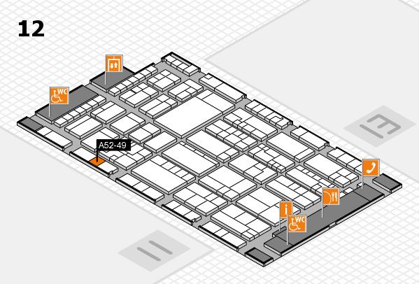 K 2016 hall map (Hall 12): stand A52-49
