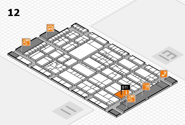 K 2016 hall map (Hall 12): stand B11