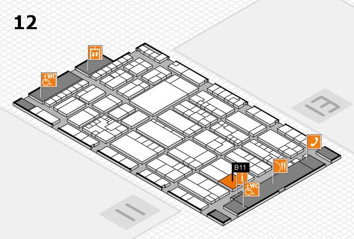 K 2016 Hallenplan (Halle 12): Stand B11