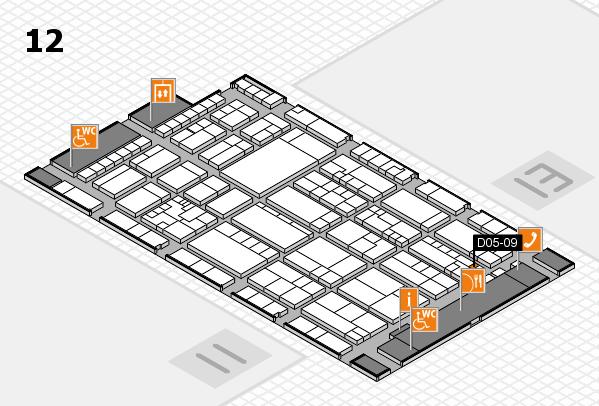 K 2016 hall map (Hall 12): stand D05-09