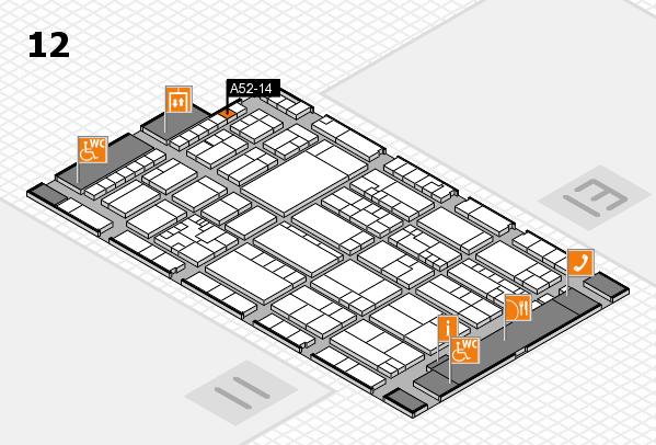K 2016 hall map (Hall 12): stand A52-14