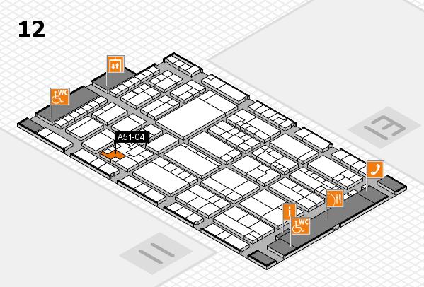 K 2016 hall map (Hall 12): stand A51-04
