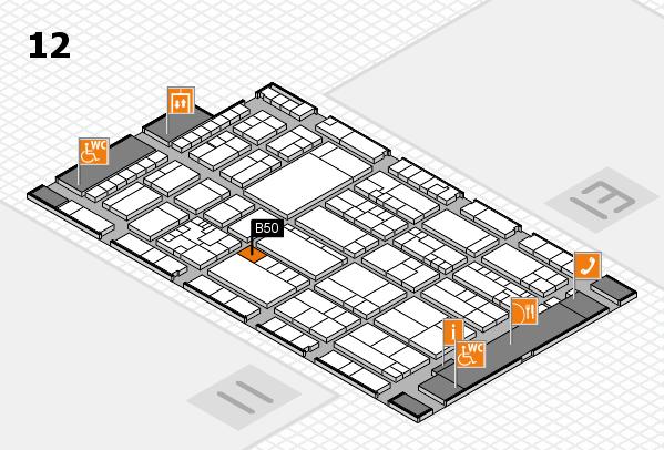 K 2016 Hallenplan (Halle 12): Stand B50