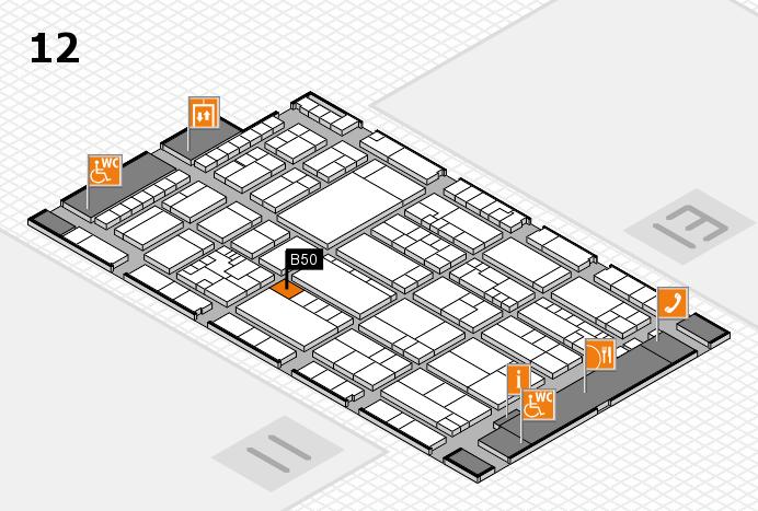 K 2016 hall map (Hall 12): stand B50