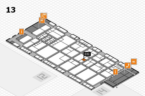 K 2016 hall map (Hall 13): stand B39