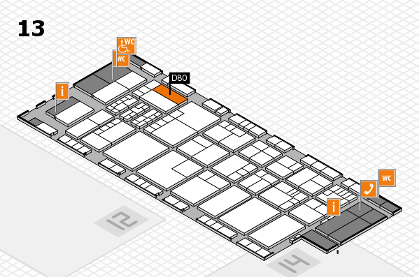 K 2016 hall map (Hall 13): stand D80