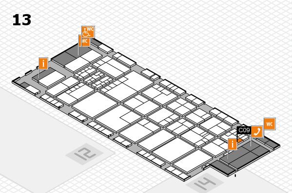 K 2016 hall map (Hall 13): stand C09