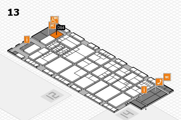K 2016 hall map (Hall 13): stand D94