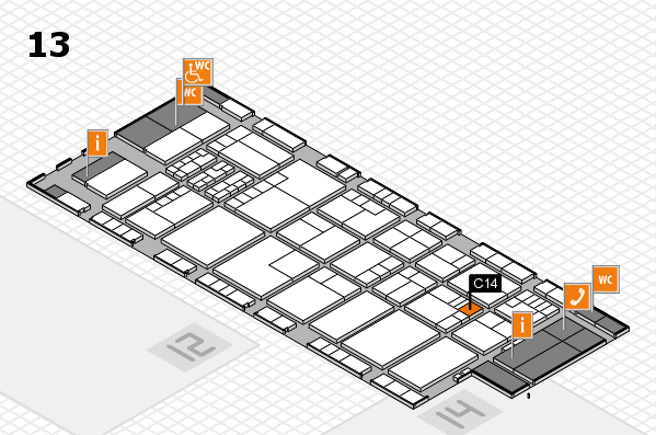 K 2016 hall map (Hall 13): stand C14