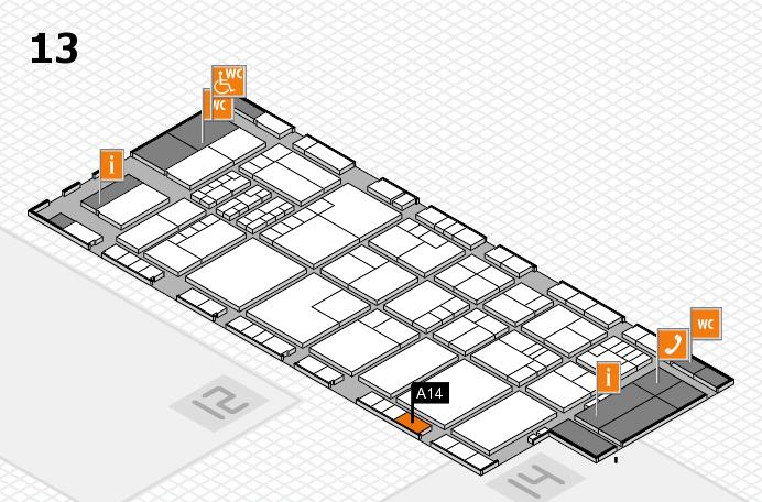 K 2016 Hallenplan (Halle 13): Stand A14