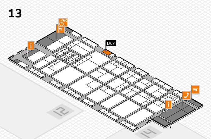 K 2016 Hallenplan (Halle 13): Stand D67