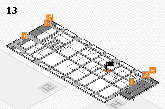 K 2016 hall map (Hall 13): stand C30