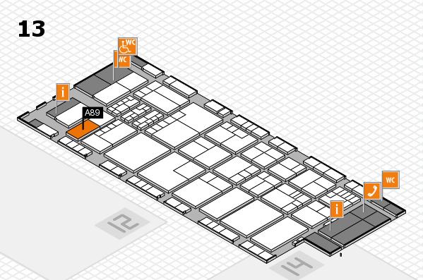 K 2016 hall map (Hall 13): stand A89