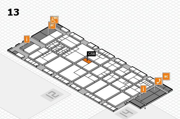 K 2016 hall map (Hall 13): stand C58