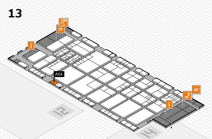 K 2016 hall map (Hall 13): stand A64