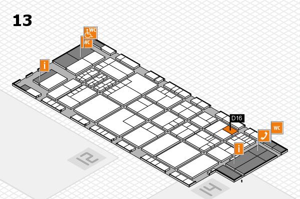 K 2016 hall map (Hall 13): stand D16