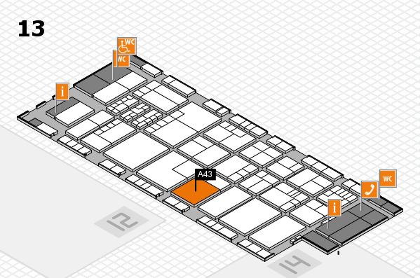 K 2016 hall map (Hall 13): stand A43