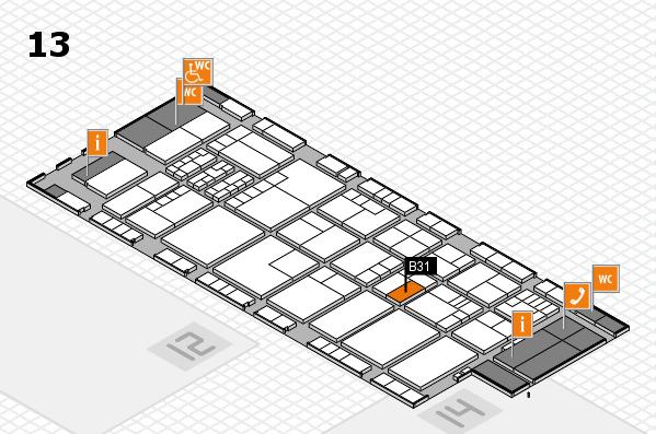 K 2016 hall map (Hall 13): stand B31